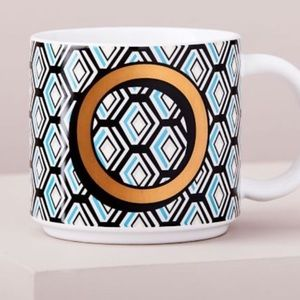 🌺4 Items-$25🌺West Elm Vintage Print Mug-Letter O